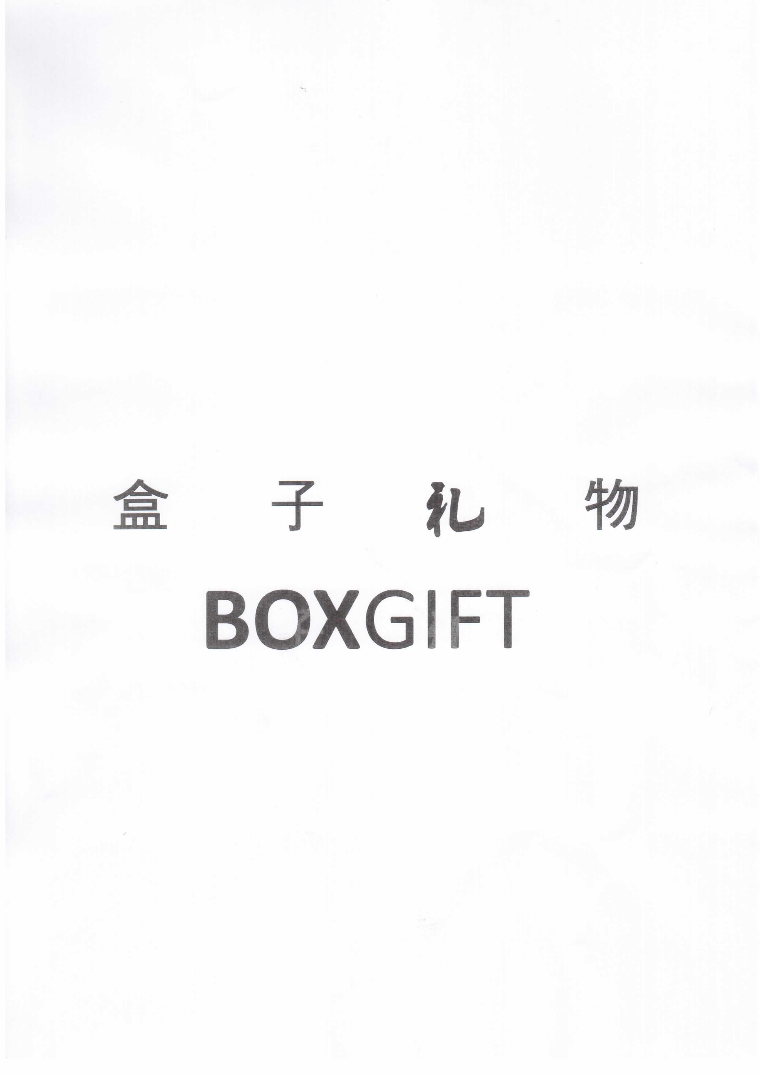 盒子礼物  BOXGIFT